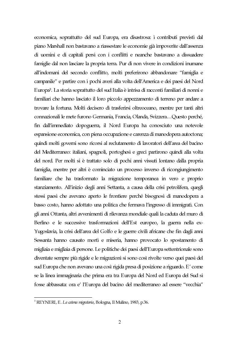 Anteprima della tesi: Piccoli immigrati in Europa. Confronto tra le strategie di inserimento scolastico, Pagina 2