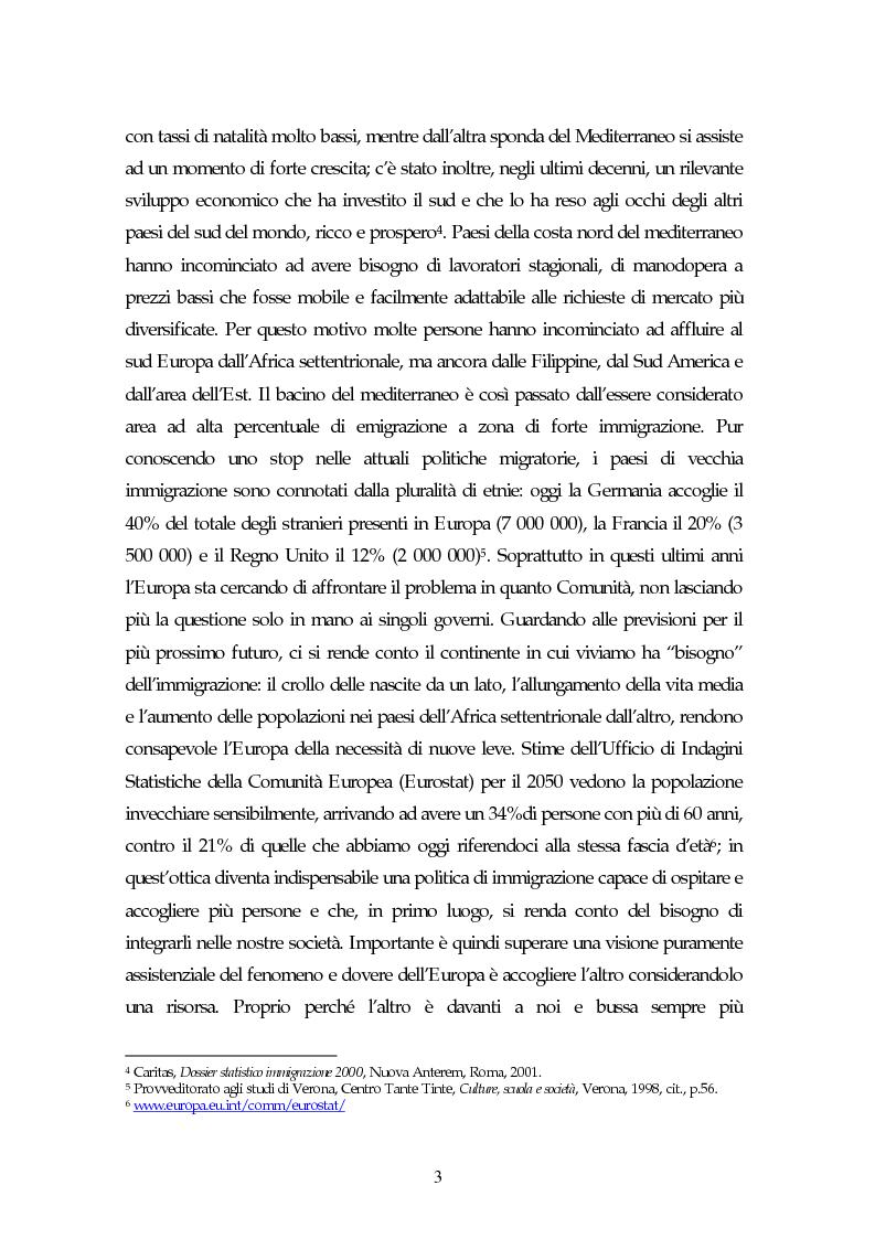 Anteprima della tesi: Piccoli immigrati in Europa. Confronto tra le strategie di inserimento scolastico, Pagina 3