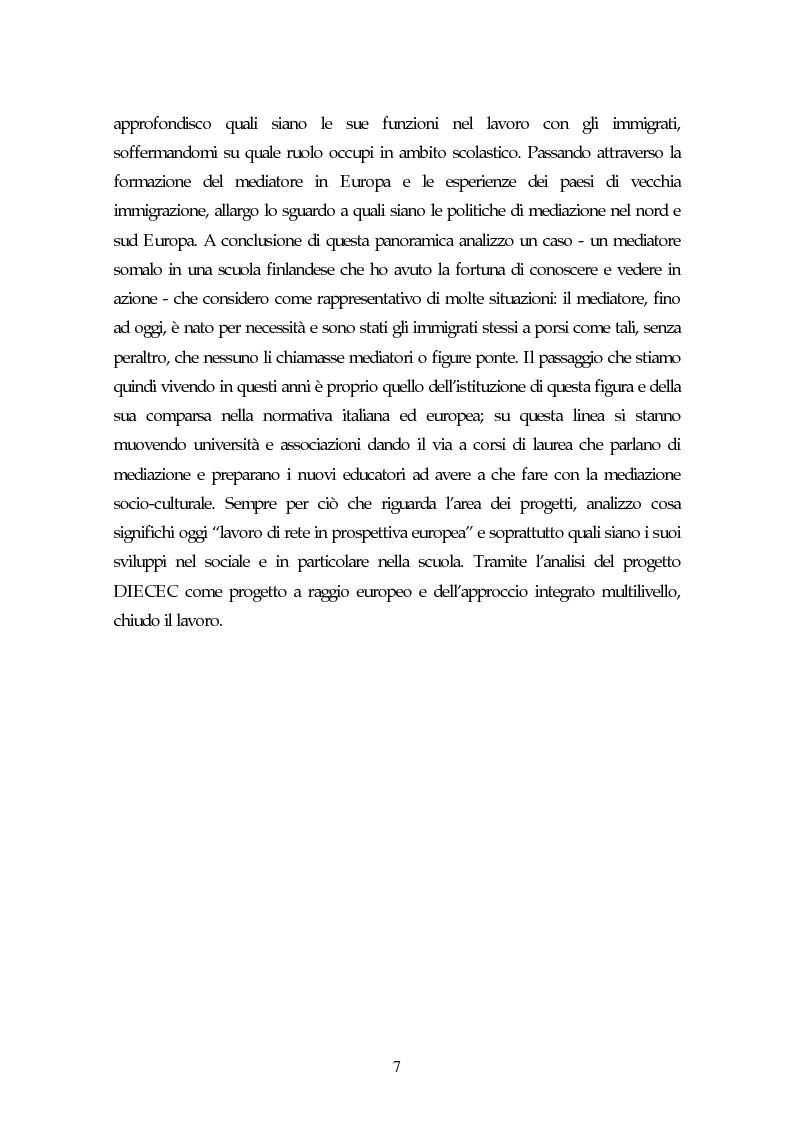 Anteprima della tesi: Piccoli immigrati in Europa. Confronto tra le strategie di inserimento scolastico, Pagina 7