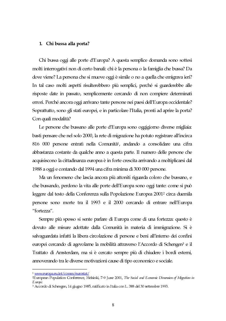 Anteprima della tesi: Piccoli immigrati in Europa. Confronto tra le strategie di inserimento scolastico, Pagina 8