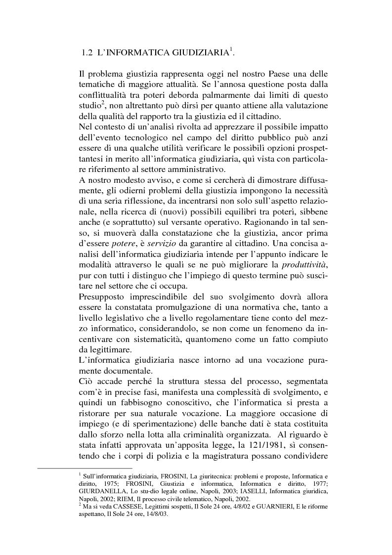 Anteprima della tesi: L'informatizzazione dell'attività amministrativa, Pagina 1