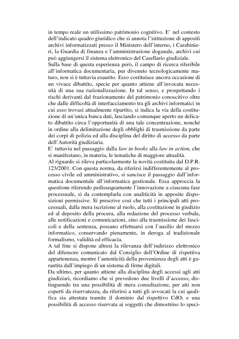 Anteprima della tesi: L'informatizzazione dell'attività amministrativa, Pagina 2
