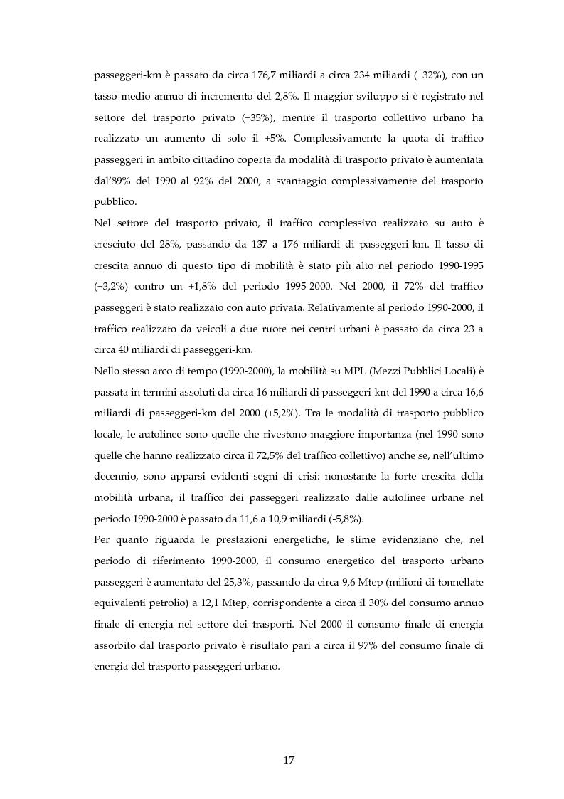 Anteprima della tesi: Analisi mediante LCA e valutazione economica dei trasporti nella città di Padova, Pagina 10