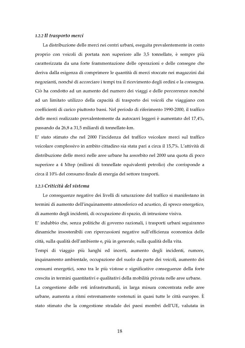 Anteprima della tesi: Analisi mediante LCA e valutazione economica dei trasporti nella città di Padova, Pagina 11