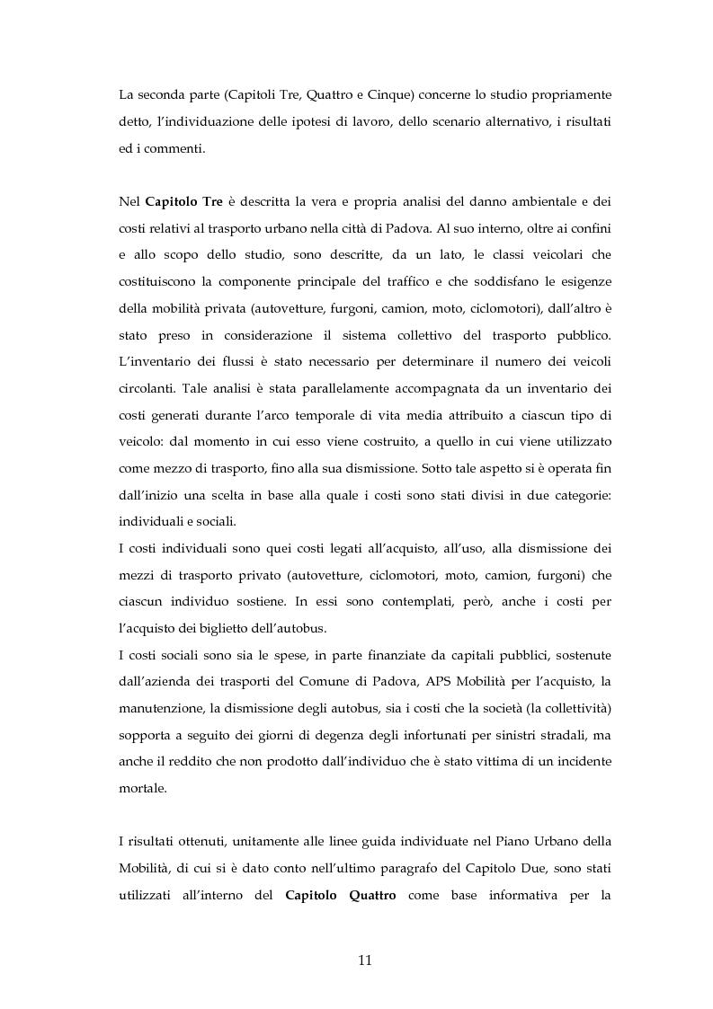 Anteprima della tesi: Analisi mediante LCA e valutazione economica dei trasporti nella città di Padova, Pagina 4