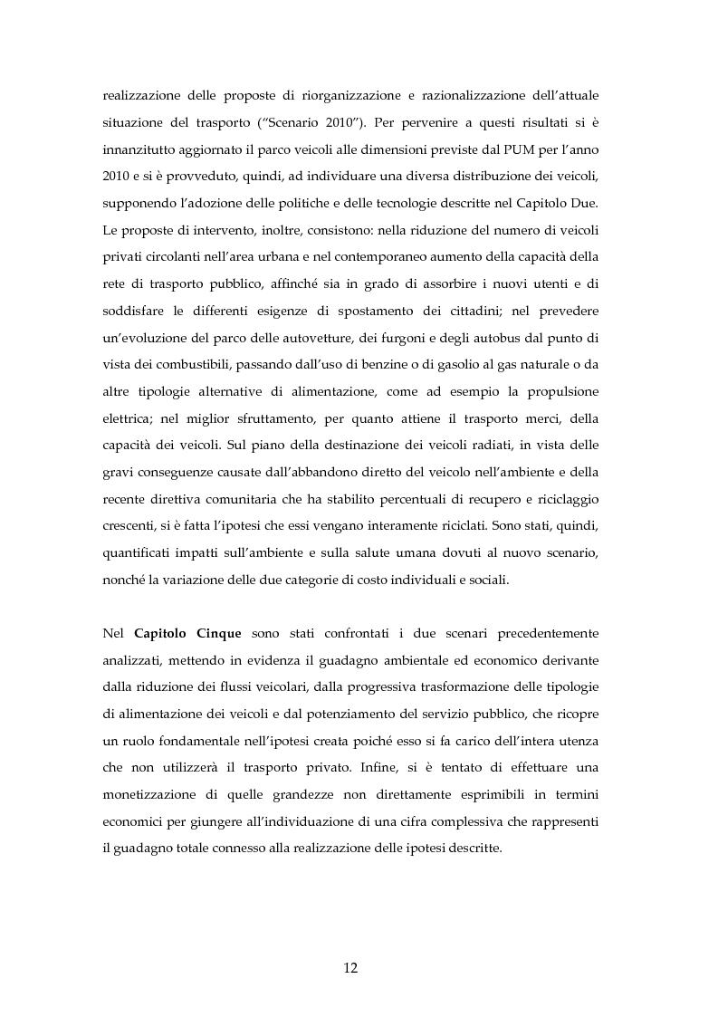 Anteprima della tesi: Analisi mediante LCA e valutazione economica dei trasporti nella città di Padova, Pagina 5