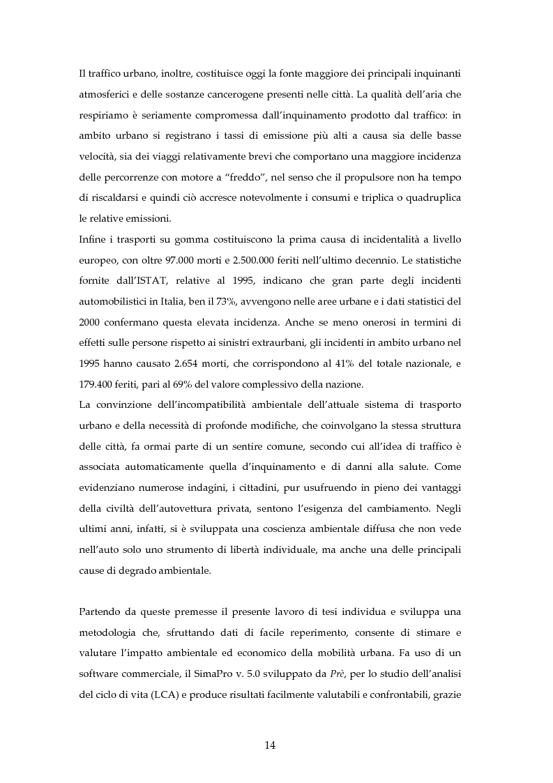 Anteprima della tesi: Analisi mediante LCA e valutazione economica dei trasporti nella città di Padova, Pagina 7