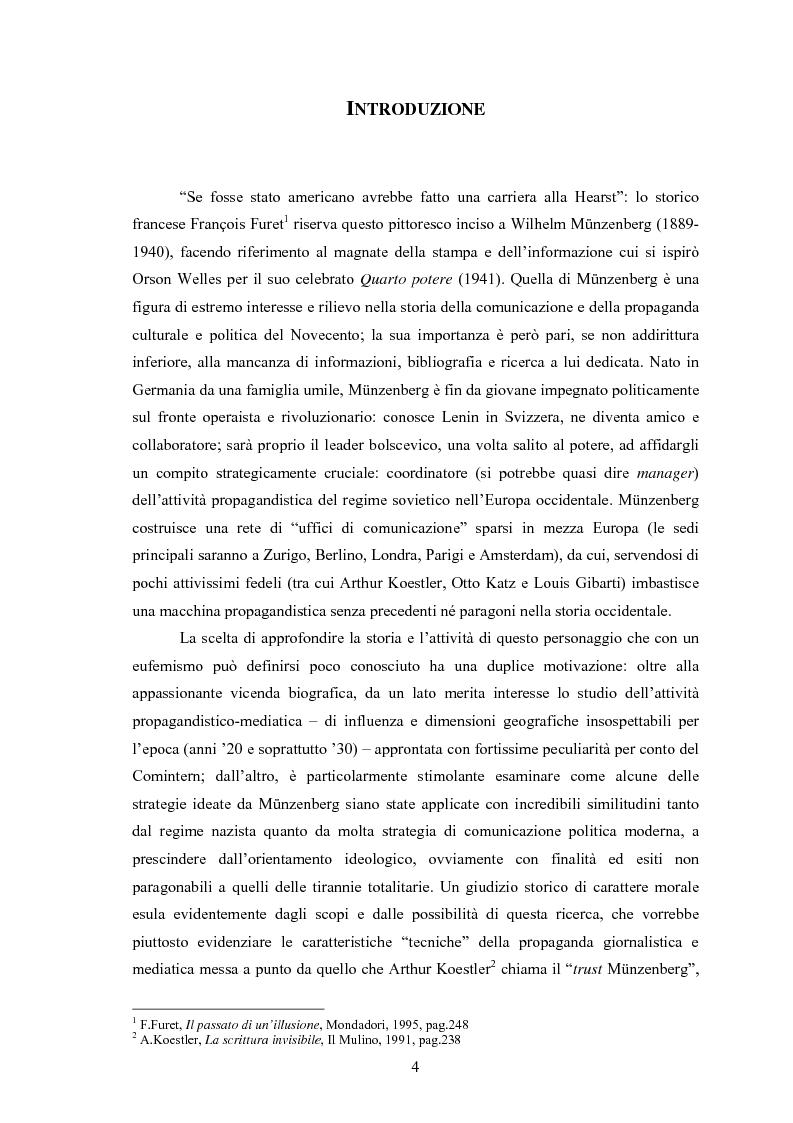 Anteprima della tesi: Wilhelm Münzenberg (1889-1940). Comunicazione, propaganda, disinformazione: la storia del ''Murdoch di Stalin'', Pagina 1