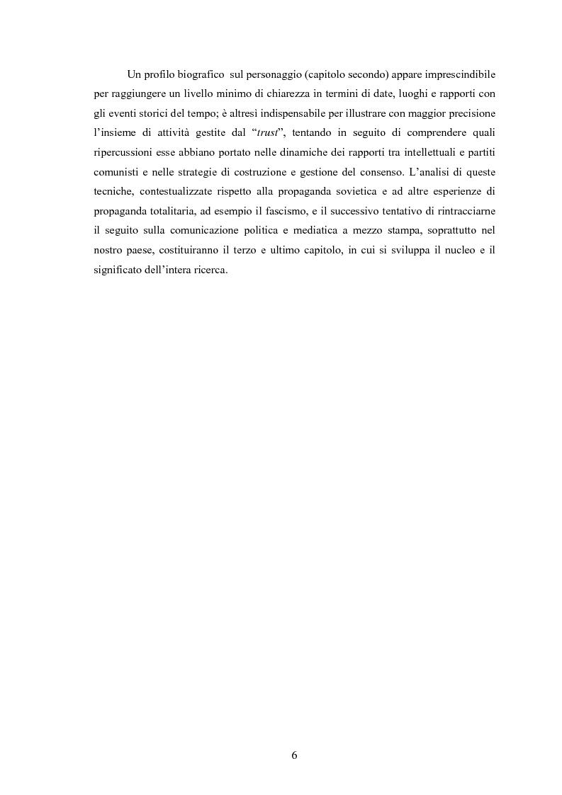 Anteprima della tesi: Wilhelm Münzenberg (1889-1940). Comunicazione, propaganda, disinformazione: la storia del ''Murdoch di Stalin'', Pagina 3