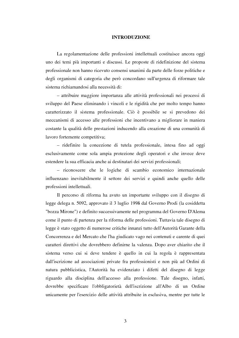 Anteprima della tesi: La disciplina delle professioni, Pagina 1