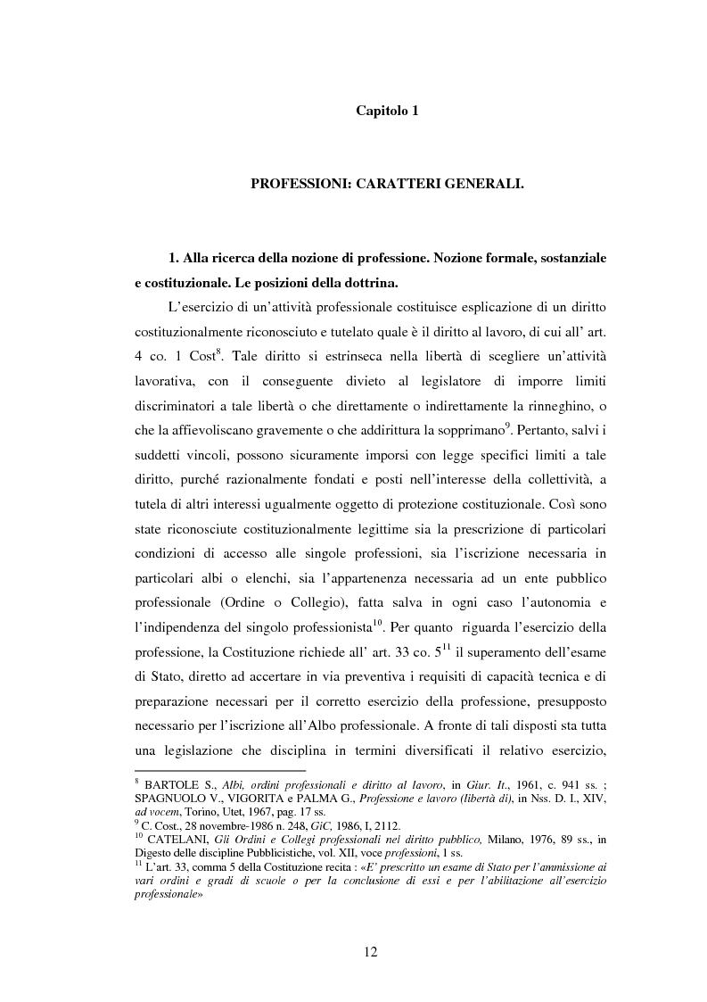 Anteprima della tesi: La disciplina delle professioni, Pagina 10