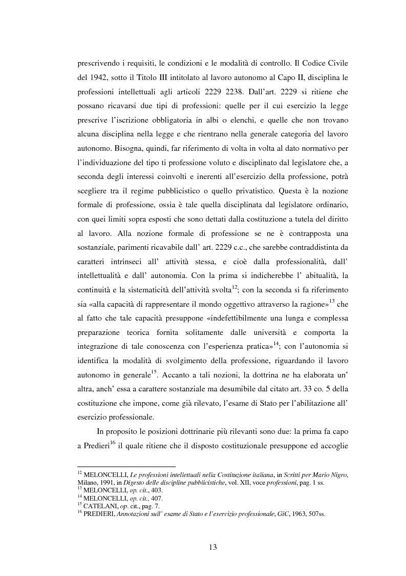 Anteprima della tesi: La disciplina delle professioni, Pagina 11