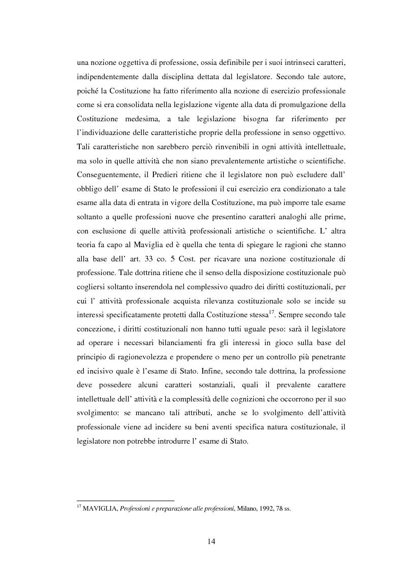 Anteprima della tesi: La disciplina delle professioni, Pagina 12