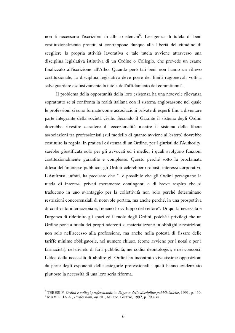 Anteprima della tesi: La disciplina delle professioni, Pagina 4