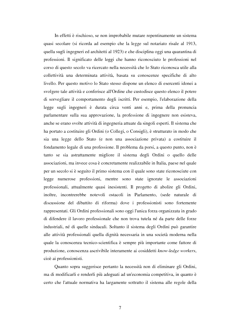 Anteprima della tesi: La disciplina delle professioni, Pagina 5