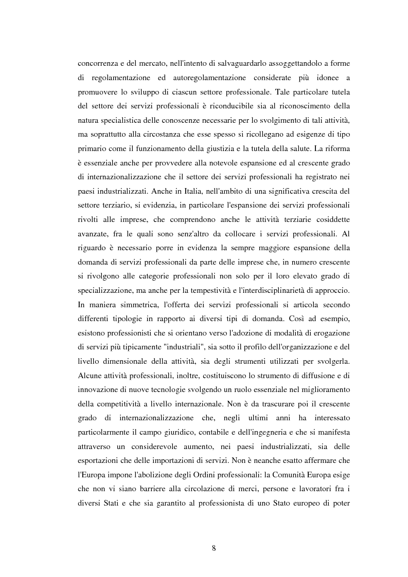 Anteprima della tesi: La disciplina delle professioni, Pagina 6