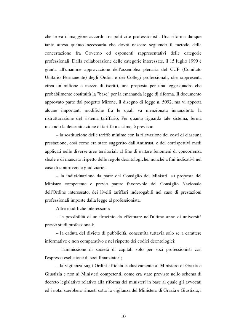 Anteprima della tesi: La disciplina delle professioni, Pagina 8