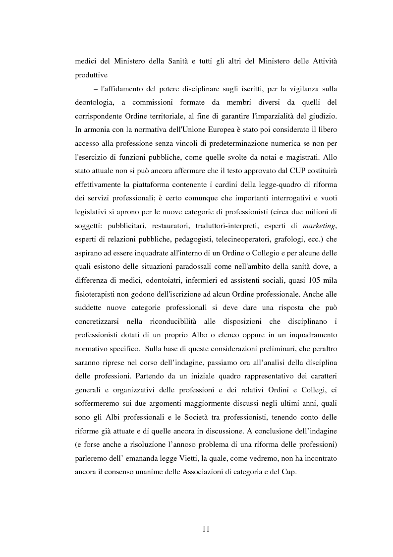 Anteprima della tesi: La disciplina delle professioni, Pagina 9