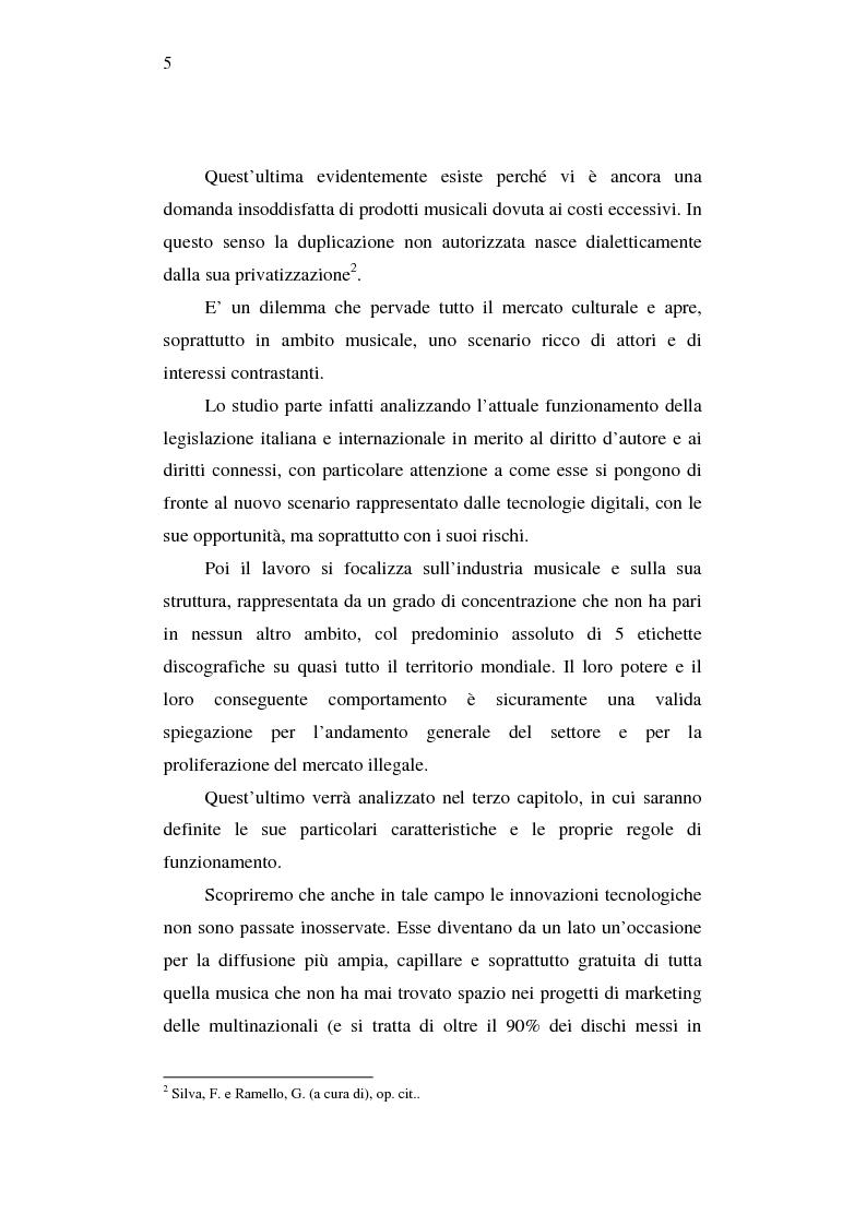 Anteprima della tesi: Effetti della pirateria nel mercato discografico, Pagina 2