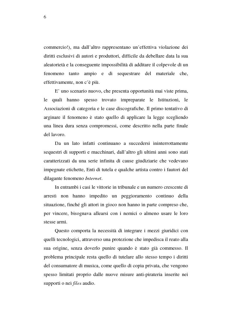 Anteprima della tesi: Effetti della pirateria nel mercato discografico, Pagina 3