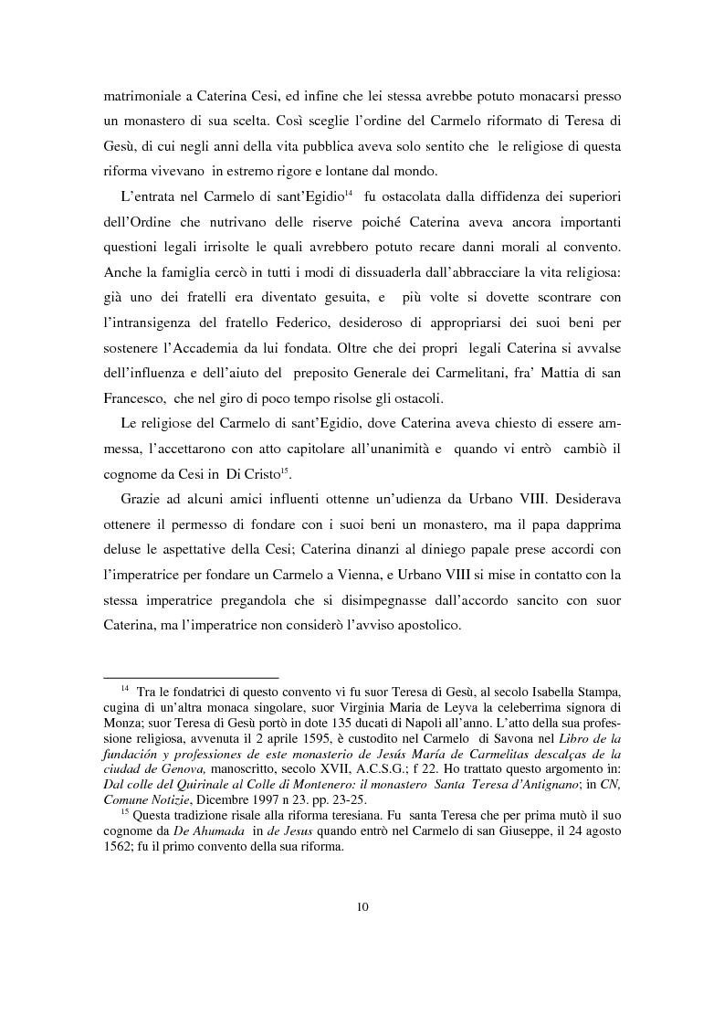 Anteprima della tesi: L'epistolario di Caterina di Cristo, Pagina 6