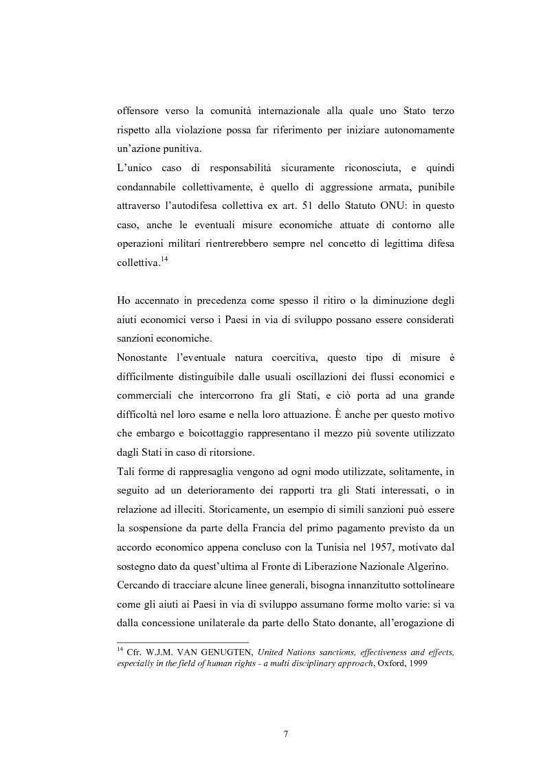 Anteprima della tesi: Sanzioni economiche e tutela dei diritti dell'uomo, Pagina 11