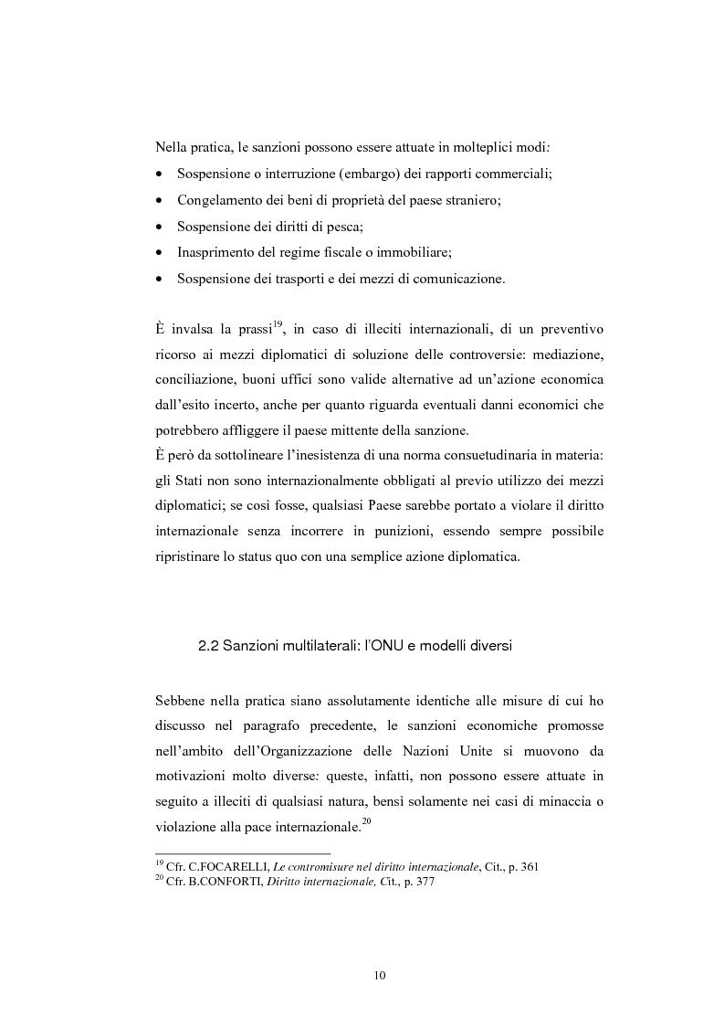 Anteprima della tesi: Sanzioni economiche e tutela dei diritti dell'uomo, Pagina 14