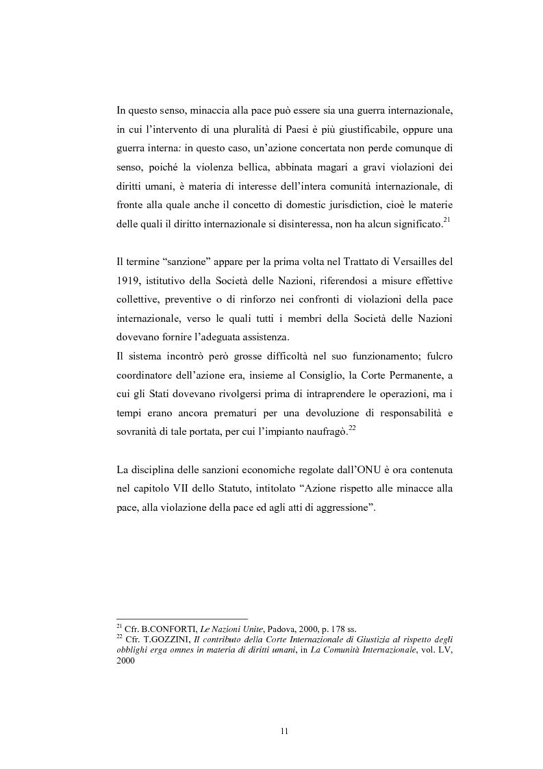 Anteprima della tesi: Sanzioni economiche e tutela dei diritti dell'uomo, Pagina 15