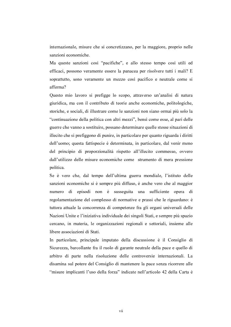 Anteprima della tesi: Sanzioni economiche e tutela dei diritti dell'uomo, Pagina 2