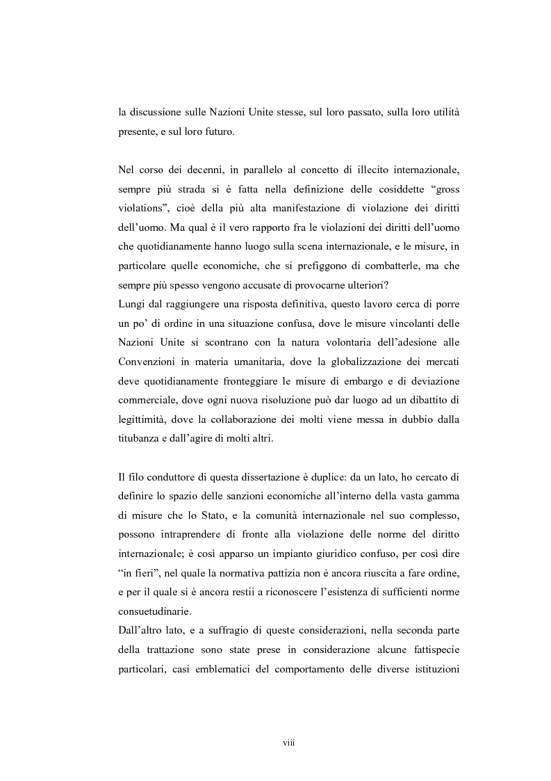 Anteprima della tesi: Sanzioni economiche e tutela dei diritti dell'uomo, Pagina 3