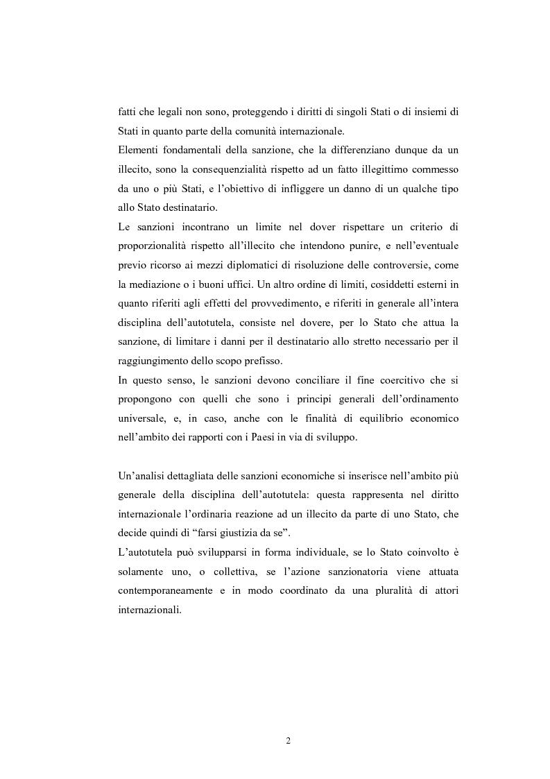 Anteprima della tesi: Sanzioni economiche e tutela dei diritti dell'uomo, Pagina 6