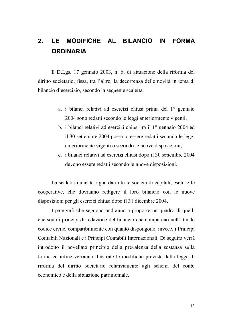 Anteprima della tesi: Il bilancio d'esercizio alla luce delle modifiche previste nella legge di riforma del diritto societario, Pagina 10