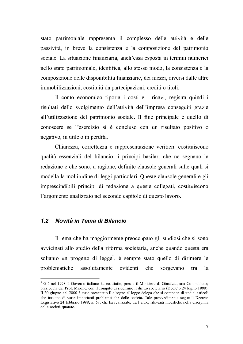 Anteprima della tesi: Il bilancio d'esercizio alla luce delle modifiche previste nella legge di riforma del diritto societario, Pagina 4