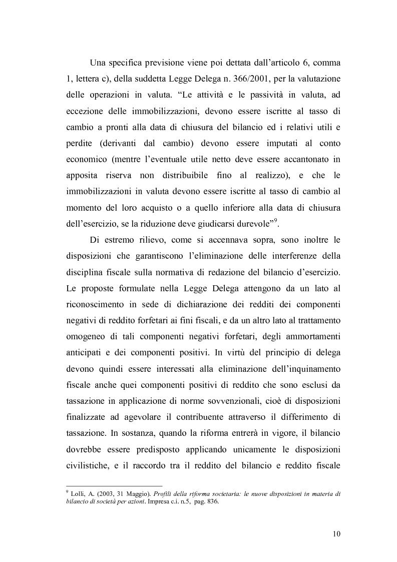 Anteprima della tesi: Il bilancio d'esercizio alla luce delle modifiche previste nella legge di riforma del diritto societario, Pagina 7