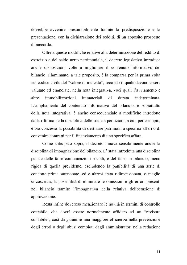 Anteprima della tesi: Il bilancio d'esercizio alla luce delle modifiche previste nella legge di riforma del diritto societario, Pagina 8