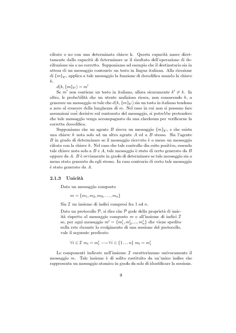 Anteprima della tesi: Verifica di protocolli di sicurezza crittografici, Pagina 6