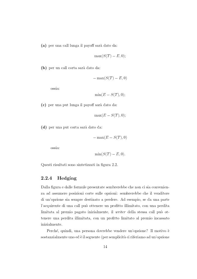 Anteprima della tesi: Un modello matematico per lo studio di prodotti finanziari derivati dipendenti dalla storia del titolo sottostante, Pagina 13
