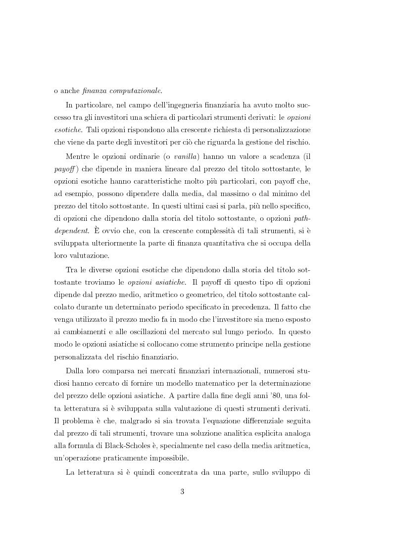 Anteprima della tesi: Un modello matematico per lo studio di prodotti finanziari derivati dipendenti dalla storia del titolo sottostante, Pagina 3