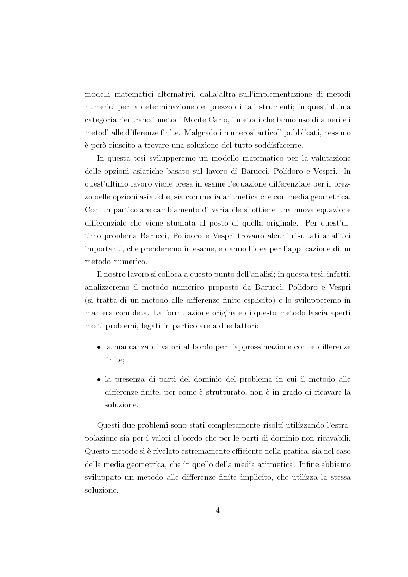 Anteprima della tesi: Un modello matematico per lo studio di prodotti finanziari derivati dipendenti dalla storia del titolo sottostante, Pagina 4