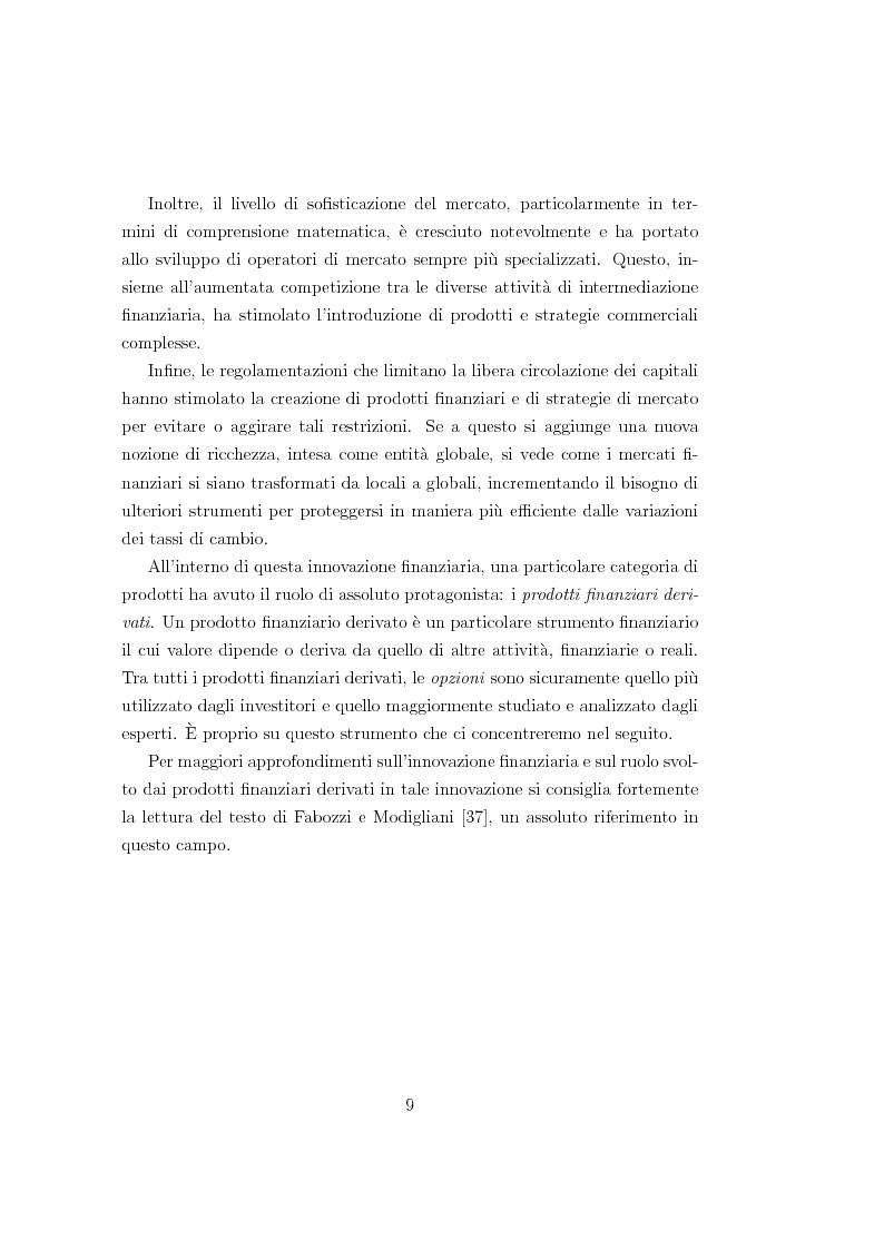 Anteprima della tesi: Un modello matematico per lo studio di prodotti finanziari derivati dipendenti dalla storia del titolo sottostante, Pagina 8