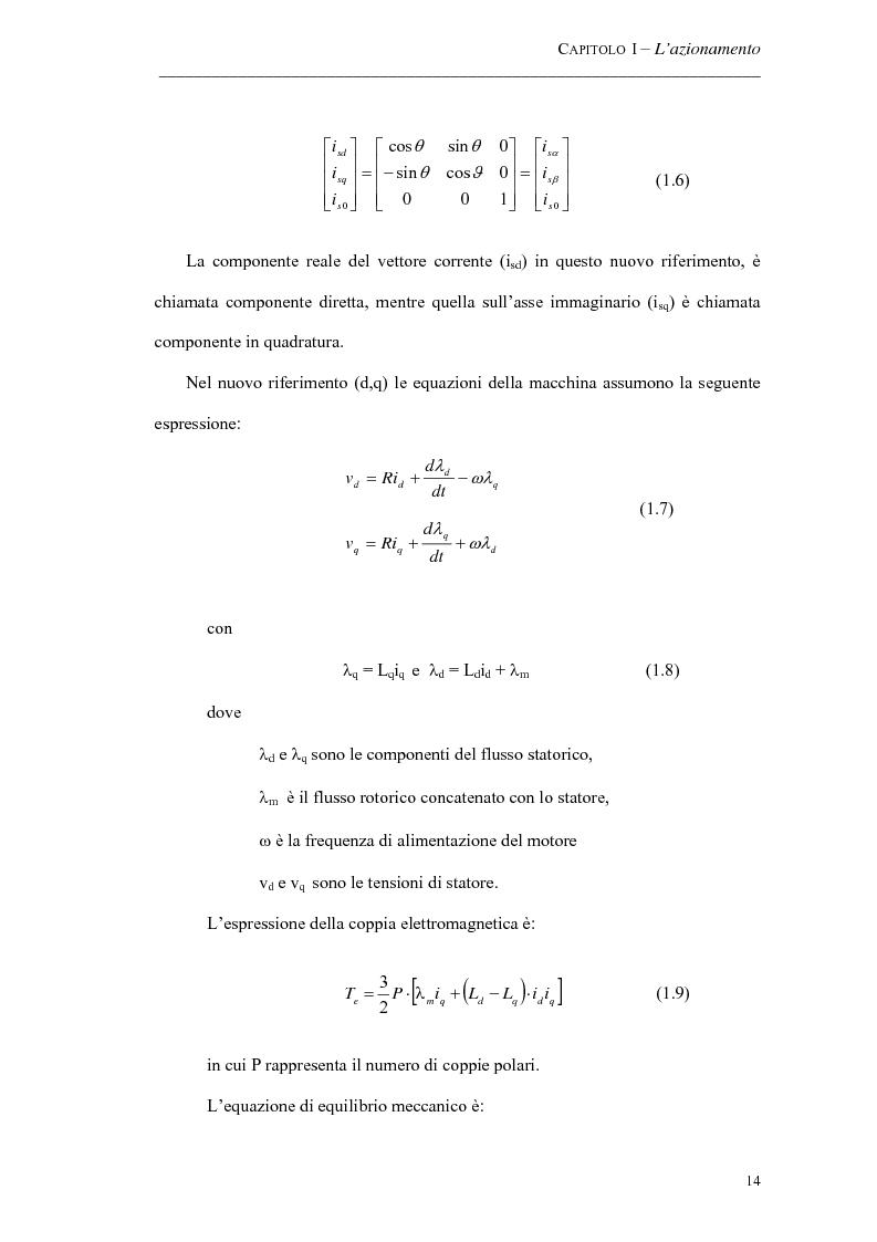 Anteprima della tesi: Progetto ed implementazione di un algoritmo per il controllo di velocità con indebolimento di campo in un azionamento brushless privo di encoder, Pagina 11