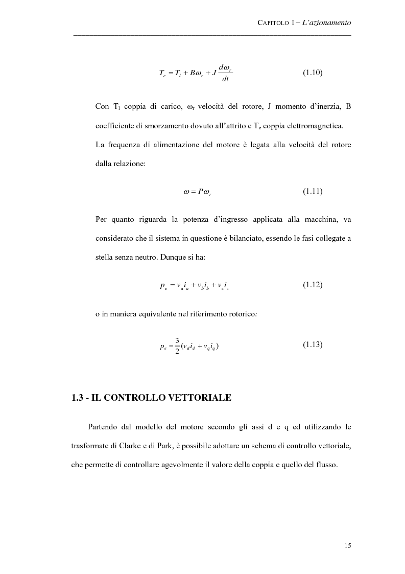 Anteprima della tesi: Progetto ed implementazione di un algoritmo per il controllo di velocità con indebolimento di campo in un azionamento brushless privo di encoder, Pagina 12