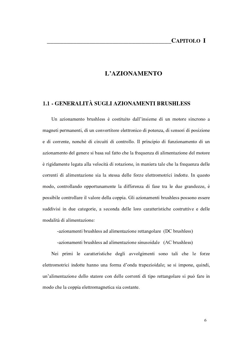 Anteprima della tesi: Progetto ed implementazione di un algoritmo per il controllo di velocità con indebolimento di campo in un azionamento brushless privo di encoder, Pagina 3