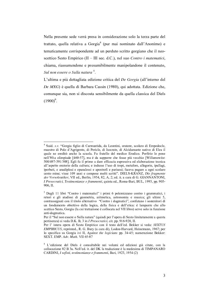 Anteprima della tesi: L'anonimo trattato De Gorgia (De Melisso Xenophane Gorgia 979a 11 – 980b 21), Pagina 2