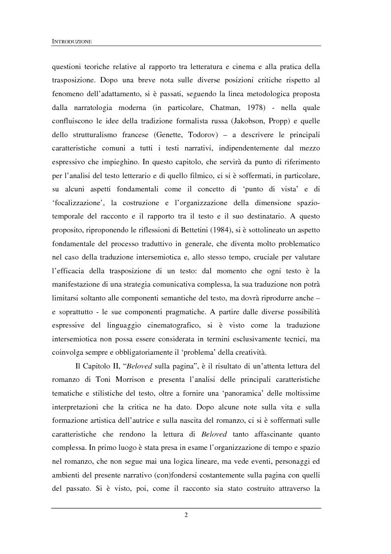 """Anteprima della tesi: """"Beloved"""" di Toni Morrison: dalla pagina allo schermo, Pagina 2"""