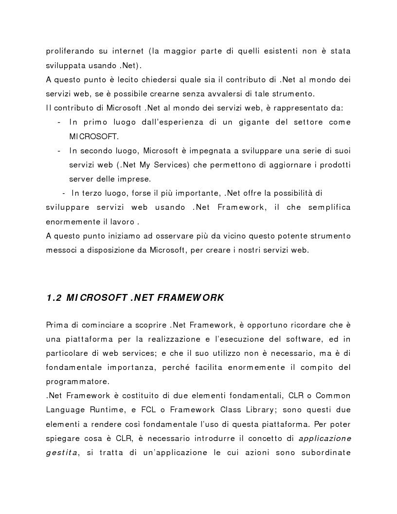 Anteprima della tesi: Progettazione e realizzazione applicazioni web e back office con la piattaforma Microsoft .NET, Pagina 3