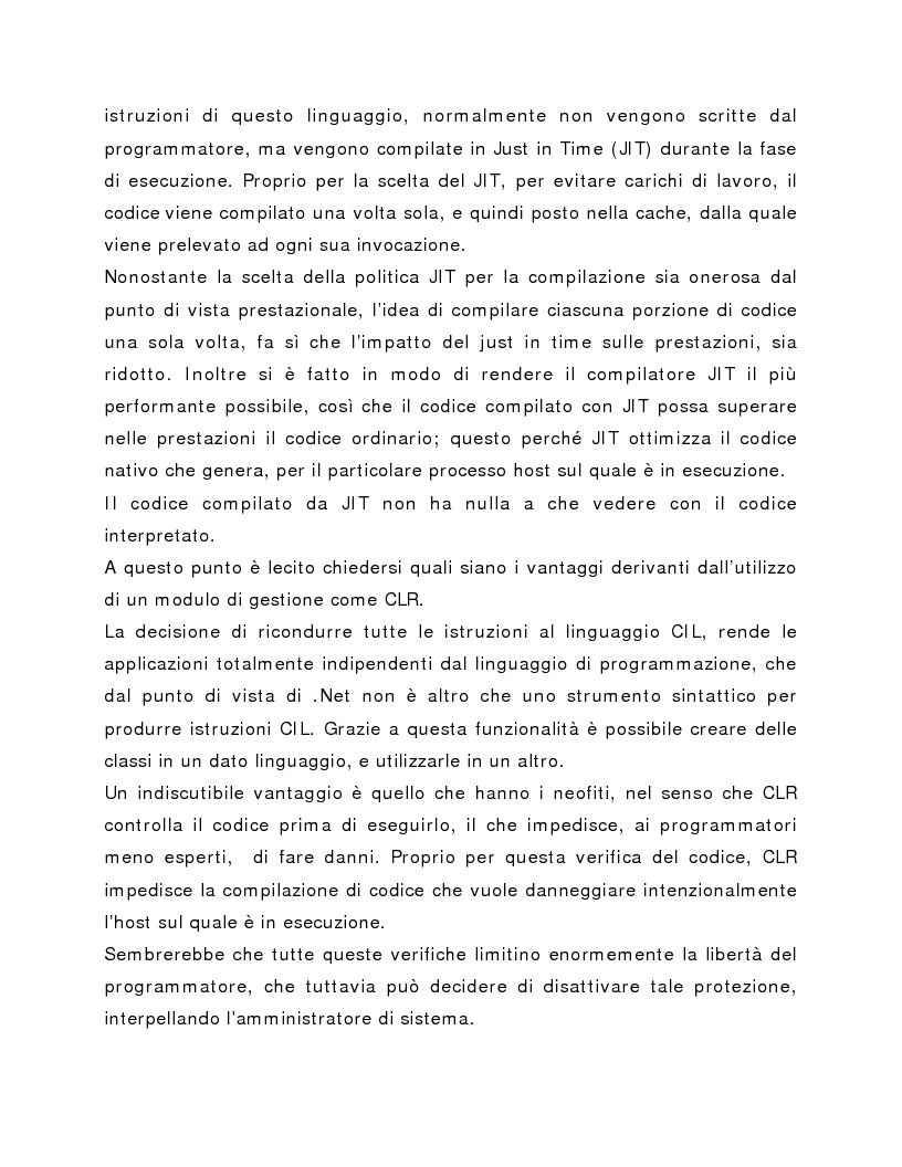 Anteprima della tesi: Progettazione e realizzazione applicazioni web e back office con la piattaforma Microsoft .NET, Pagina 5