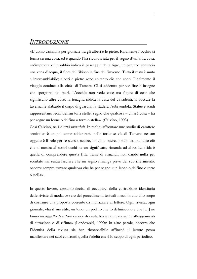 Anteprima della tesi: Moda e caratterizzazioni nazionali: testi e variazioni. La costruzione identitaria, Pagina 1