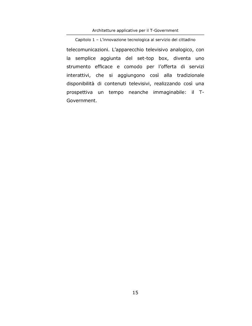 Anteprima della tesi: Architetture applicative per il T-Government, Pagina 15