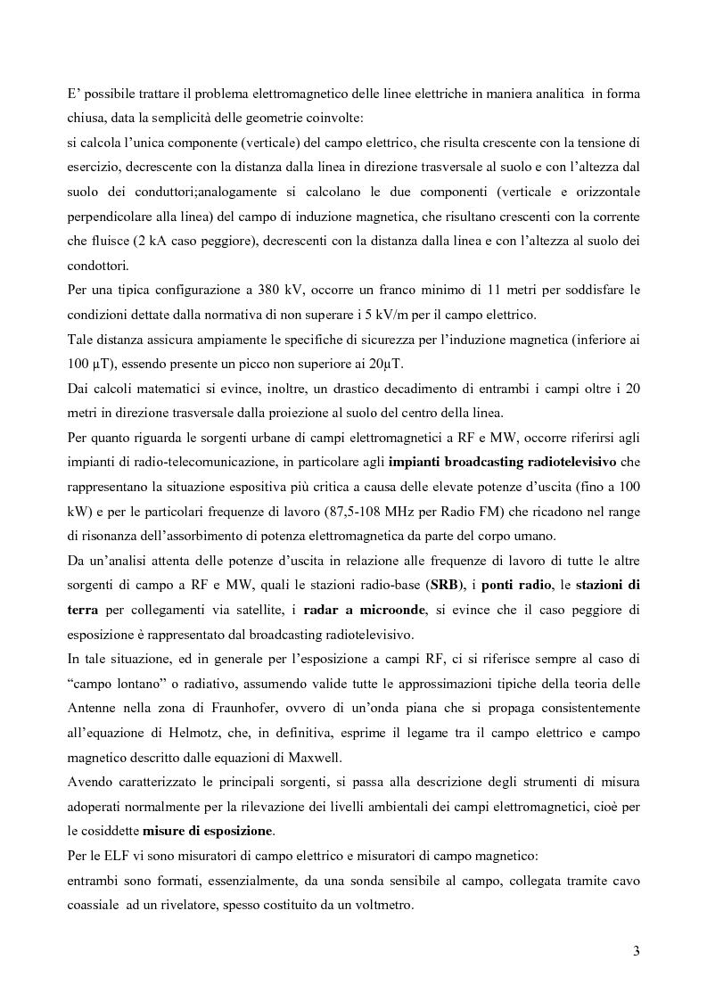 Anteprima della tesi: Misure e valutazione dell'esposizione umana ai campi elettromagnetici in zone densamente popolate, Pagina 3